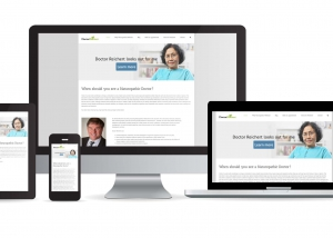 doctor reichert website multidevice layout