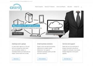 geeks are us website homepage sample page
