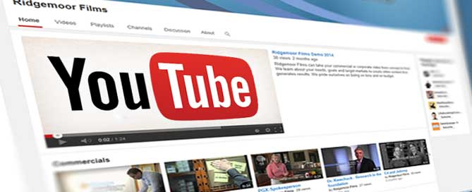 ridgemoor films-youtube channel homepage