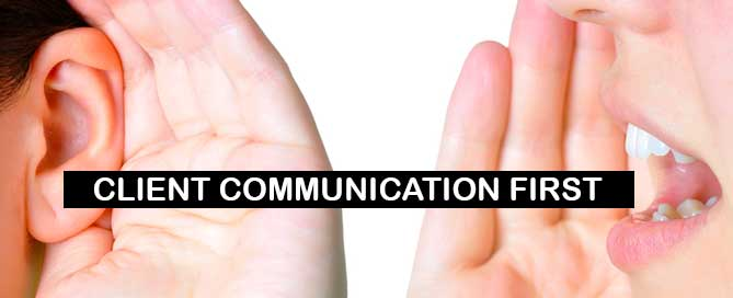 Good client communication comes first
