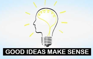 Good ideas make sense