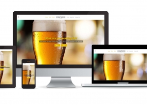 Burnaby Brewing website multidevice layout