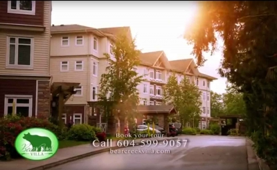 Bear Creek Villa tv commercial title card still image