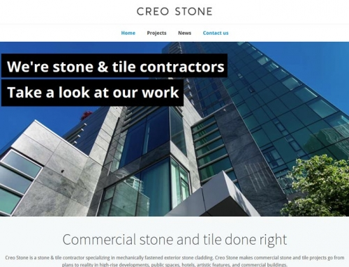 Creo Stone – website design