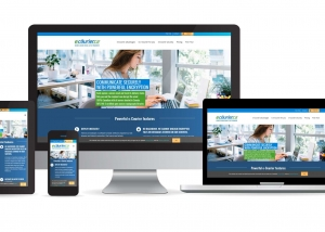e-Courier website multidevice layout